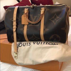 Louis Vuitton Giant Monogram Keepall Authentic